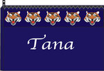 Med. Cosmetic Bag-Navy w/Tiger Navy Ribbon