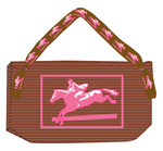 Heavy Ribbed Cotton Bag w/ Horse Applique.
